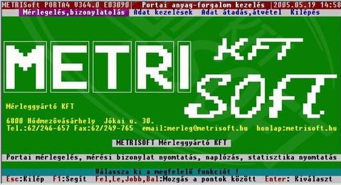 Vásárolni Porta_4 DOS-os portai jármű mérlegelő program