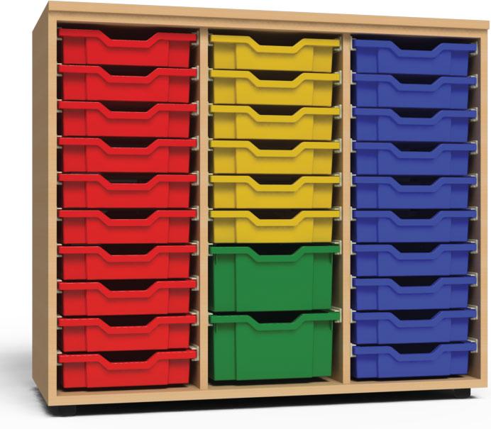 Vásárolni Poli-Box műanyag fiókos szekrények