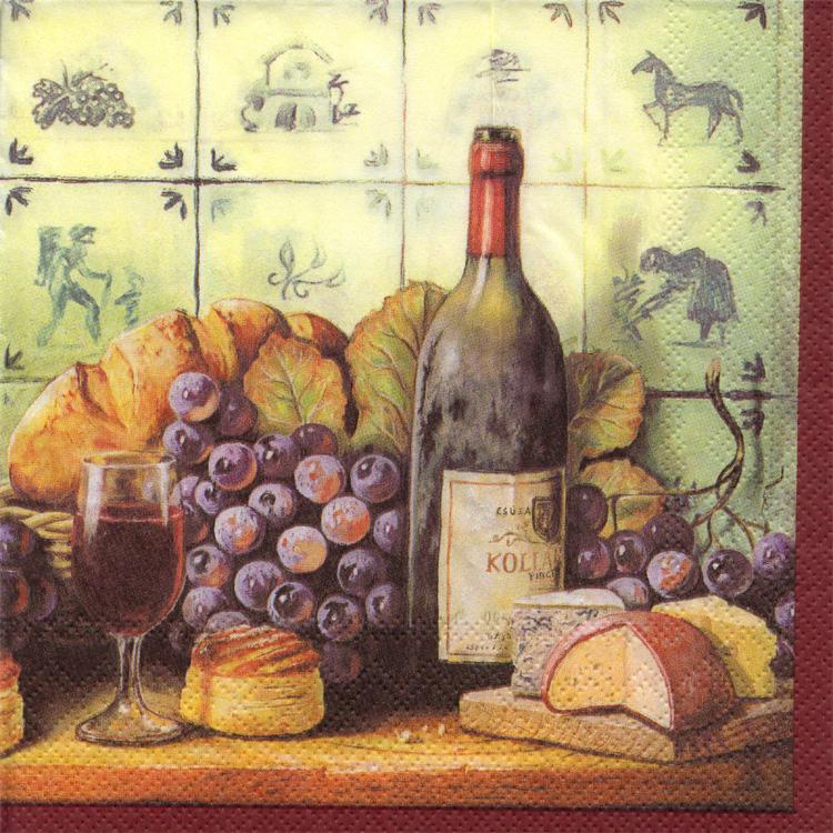 Vásárolni Wine vörös mintás szalvéta 2 rtg 33cm 40db/csg