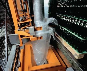 Vásárolni MSK Transtech raklap szállító rendszerek az Üres Üveg Ipar számára