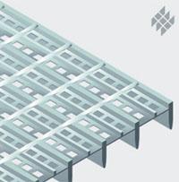 Vásárolni SP rácsok behegesztett perforált lemezcsíkkal