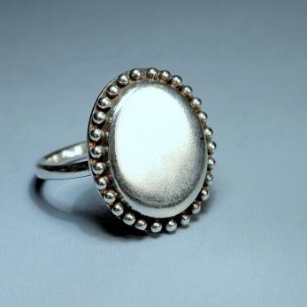 Vásárolni Ovális tükör ezüst gyűrű