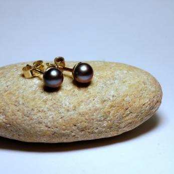 Vásárolni Fekete gyöngy fülbevaló