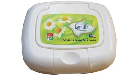 Vásárolni Kamilla Prémium nedves toalett kendő dobozos, 40 lap