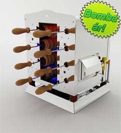 Vásárolni 1/8-as PG gázos kürtöskalács sütő gép