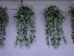 Fuchsia selyem virág