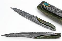 Labradorite damaszk kés