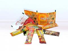 Csokoládé- és müzliszeletek csomagolásához