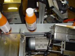 Flakon, tégely, üveg címkéző gép