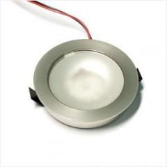 F67 kerek d=55mm, szatén nikkel LED lámpa