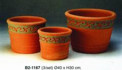 Terracotta cserép szett