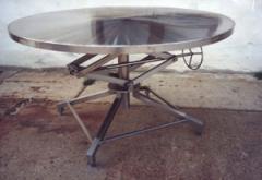 Állítható, forgatható rozsdamentes körasztal