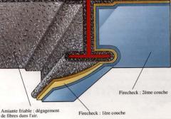 Azbeszt- és tűzterjedést gátló bevonat