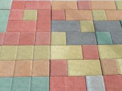 Kocka térkő (vörös, antracit, homok, narancs,