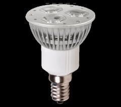 Ledes fényforrás 3 db power led E14 6W meleg fehér