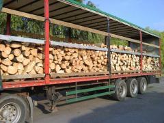 Tűzifa kamion tételben