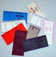 Banki és pénzintézeti, ügyviteli nyomtatványok