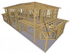 Komplett tetőszerkezet
