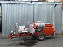 Tökroppantó - TR 2003 vontatott tökmagbetakarító gép