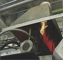 Golyó- és görgőedző védőgázos, forgó dobos, indirekt fűtésű hőkezelősor