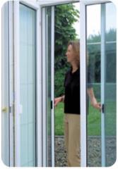 Oldalra elhúzható rolós szúnyogháló ajtó