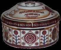 Csokoládé bonbon porcelán diszdobozban
