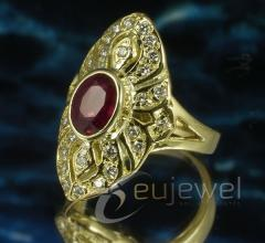 Arany gyűrű rubinnal