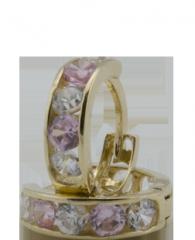Arany fülbevaló cirkónia kövekkel