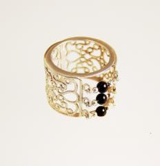 Gyűrű onixal