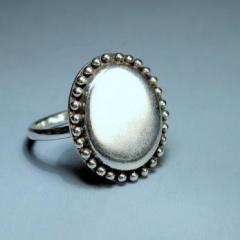 Ovális tükör ezüst gyűrű