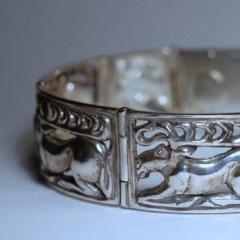 Csodaszarvas ezüst karkötő