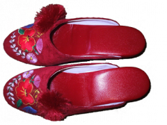 Kerekorrú, bojtos papucs