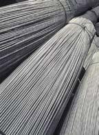 Bordás betonacél tekercsben és szálban