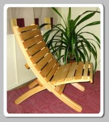 Fa kerti szék bükkből