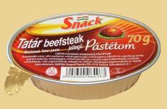 Snack Tatár beefsteak jellegű Pástétom