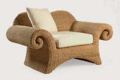 Fotel csavart karfájú