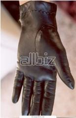 Вőr kesztyű selyemmel bélelt fekete női
