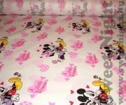 Rózsaszín Mickey egeres Disney méteráru