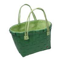 Kézzel szőtt bélelt táska zöld kockás