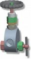 LM-1 típusú manométer tűszelep