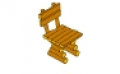 Kerti szék rönkfából