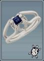 Drágaköves fehér arany gyűrű
