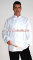 Fehér hosszú ujjú szakácskabát