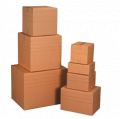 Kartondoboz - 387x228x344, C hullám, 3 rétegű