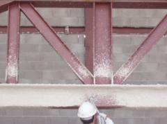 Acél épületszerkezetek tűzvédő vakolása